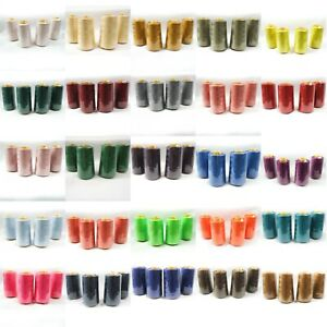 Perial Co 4 Cones of Polyester Threads for Sewing Quilting Serger 26 Colors