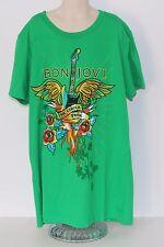 Bon Jovi The Circle Tour Kids Large Green T Shirt