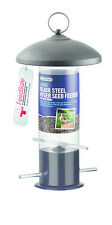 Gardman Large Black Steel Nyger Seed Feeder Easy Fill/Clean Metal Feeder A01516
