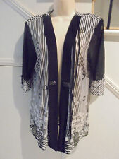 VUIOS LABEL SIZE L, 16 BLACK WHITE EVENING SPECIAL OCCASION JACKET 'PERFECT'