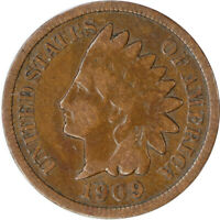 1909 1C Indian Head Cent Penny Raw Circulated Coin