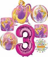 Princess Rapunzel Party Supplies 3rd Birthday Orbz Balloon Bouquet Decorations