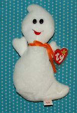 Vtg Ty Beanie Baby 1995 Spooky the Halloween Ghost with Display Case PVC MWMT