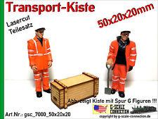 Spur G Lasercut 2x Transport Kiste 50x20x20mm aus Holz für z.B. LGB PIKO G
