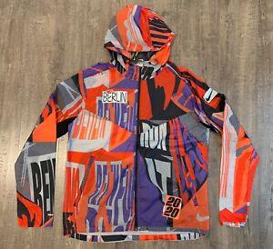 Nike Windrunner Berlin Running Jacket Men's Medium M Orange DA1868-854 NWT $120