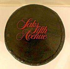 Vintage Black & Red Saks Fifth Avenue New York Hat Box w/Tissue Storage Gift