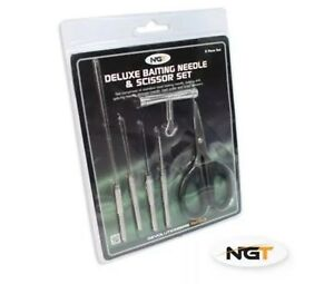 NGT Stainless Steel 6 Piece Baiting Set, fishing tackle, drill, needle