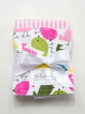 "NEW Baby Laundry Burpie Set Baby Birds and Pink Stripe (13"" X 17"")"