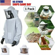1pc Beekeeping Jacket Equipment Veil Bee Keeping Cotton Suit Hat Pull Over Smock