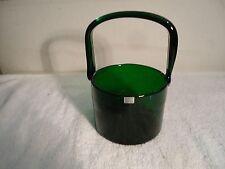 Arabia Finland Signed NuutCajärvi Notsjö Green Glass bucket basket ice bucket ?