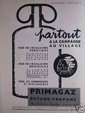PUBLICITÉ PRIMAGAZ PARTOUT A LA CAMPAGNE AU VILLAGE CUISINIERE CHAUFFAGE