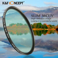 40.5/52/55/58/62/67/72/77/82mm HMC UV (C) Multi-Coated Slim Filter for Canon EOS