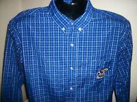 Men's Kansas Jayhawks Long Sleeve Button Down Shirt Size L Large