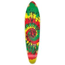 Yocaher Kicktail Tiedye Rasta Longboard Deck