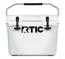 NEW DESIGN! RTIC 20 Cooler WHITE Beer Bottle Storage*NO TAX*