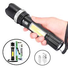 Led Taschenlampe Polizei Swat Cree Zoom 1000 Meter Leuchtweite eingebautem Akku