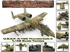 1/48 Scale Tamiya U.S.A.F. Fairchild Republic A-10A Thunderbolt II Built Model.