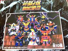 Super Robot Wars Chogokin Complete Set o/10 Gunbuster Mazinger Gundam Getter NEW