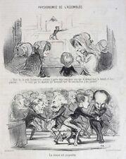 Honore Daumier France 1808 -1879 Lithograph Physionomie de L'assemblee No. 18