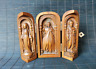 noble old boxwood hand carved Christian Jesus statue Extension box table decor