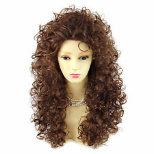 Sexy Wild Untamed Light Brown Long Curly Ladies Wigs From WIWIGS UK