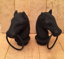 Hitching Post Horse Heads Cast Iron (Set of Two) Stable Supplies 0170S-11617