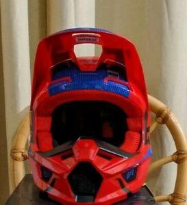 Fox Youth V1 OkTIV Helmet Red/Blue Small DOT ECE MIPS 47-48 CM
