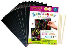 "New Kids Premium Small Plain Scratch Art Kit 5"" x 7"" (Pack of 10), Au Seller"