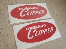 Orlando Clipper Boat Vintage Decal RED 2-PK FREE SHIP + FREE Bass Fish Decal!