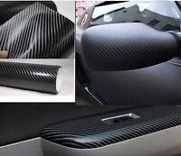 4D Multi Sizes Carbon Fibre Vinyl Wrap Car Sheet Sticker Roll Bubble Air Free