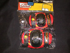 SIMPSONS JUNIOR KIDS BICYCLE SKATE KNEE AND ELBOW SAFETY PADS PD8300