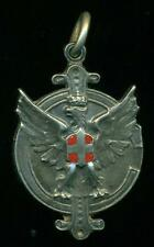 ARGENTINA ITALIA NICE 1942 CHESS MEDAL PRIZE AGUILA SABAUDA SILVER and ENAMELS