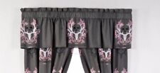 Bone Collector Pink and Grey Valance Only Window Topper Logo