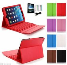 RED iPad 2 3 4 Retina iPad Stand Leather Case Cover + Bluetooth Keyboard