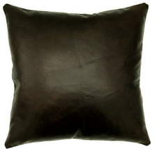 Full Grain Leather Brown Pillow Cover Only Or With Cushion Couch Decor Accent