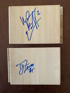 North Carolina Tar Heels Basketball Floor Board Lot2 Ellington Lawson NBA