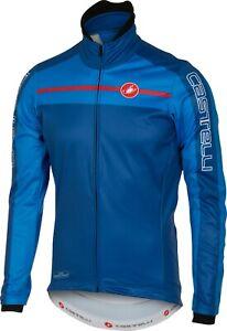Castelli Velocissimo Men's Windstopper Cycling Jacket Size Blue Large