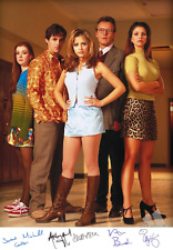 BUFFY THE VAMPIRE SLAYER JOB LOT 4 X TV POSTERS WITH SIGNED AUTOGRAPH CAST PHOTO