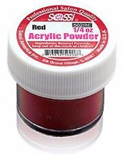 Sassi 1/4 Ounce Red - Acrylic Powder by Sassi for Beautiful Nails !!!!