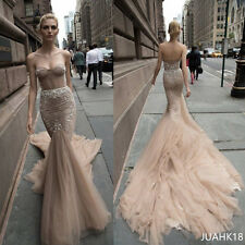Inbal Dror Mermaid Lace Wedding Dresses Backless Trumpet Beach Vintage Gowns