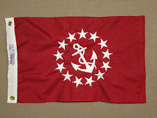 """Vice Commodore Yacht Club Officer Indoor Outdoor Nylon Boat Flag Grommets 12X18"""""""
