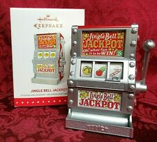 Casino One Arm Bandit Jackpot Slot Machine Ornament Hallmark, QX01349