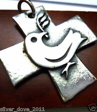 RETIRED James Avery Dove Cross Pendant RARE/Hard-To-Find!