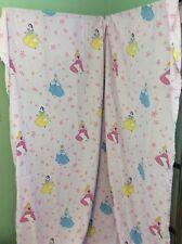 Disney Princess Twin Flat Sheet Purple Snow White Sleeping Beauty Cinderella