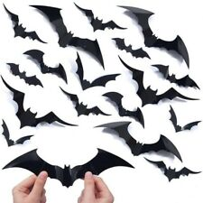 20 Halloween Scary 3D Flying Bats Wall Stickers Room Decoration Home Decor Mural