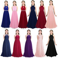 Flower Girl Dress Kid Princess Long Dresses for Formal Wedding Bridesmaid Gown