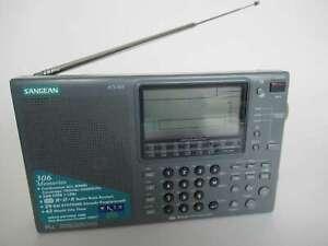SANGEAN ATS 909 Vintage Portable MW/LW-FM(RDS)-S/W Radio and case