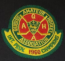 1960 - QUEBEC AMATEUR HOCKEY ASSOCIATION - Q.A.H.A. - CHAMPIONS - FELT CREST