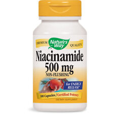 NATURES WAY Niacinamide 500 mg NonFlushing For Release Of Energy 100 Capsules