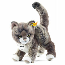 STEIFF Kitty Cat 22cm EAN 099335 Grey tabby Plush soft toy gift New